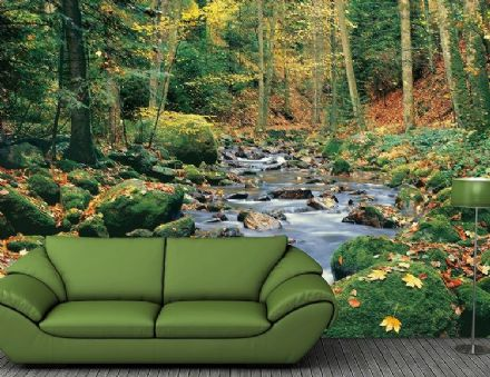 Forest Brook Wall Mural photo wallpaper